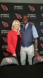 Nicoel Bidwell, Roy Green at Cardinals Press Conference