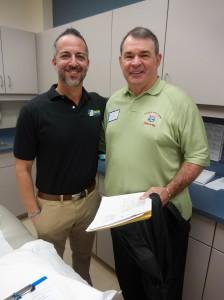Dr. Rosenbaum and Former NFL RB Don Nottingham
