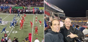 Dr. Anthony Scianni and David Gergen at the Pro Bowl