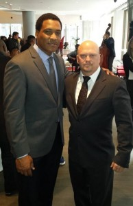 Andre Collins and David Gergen