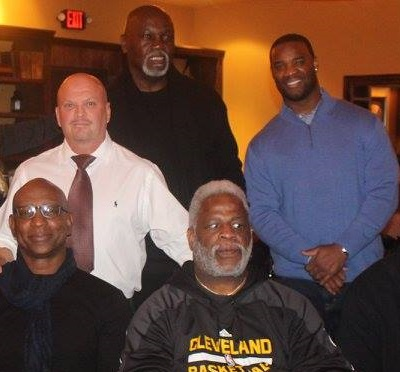 Eric Dickerson, David Gergen and Earl Campbell
