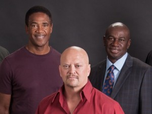 NFL HOF Mike Haynes, ASBA CEO David Gergen, NFL Cardinals HOF Roy Green