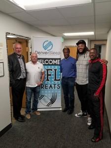 Dr. Wilk, David Gergen, Former Broncos Billy Thompson, Broncos Lineman Billy Turner, NFLPA Chapter President Wade Manning